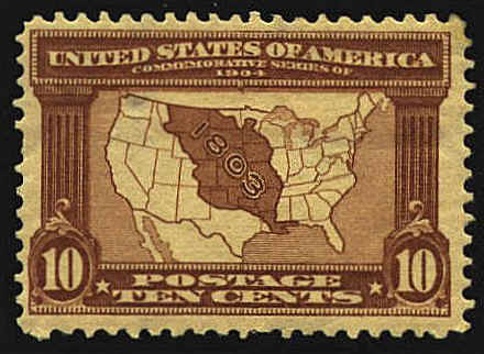 First US Map Stamp